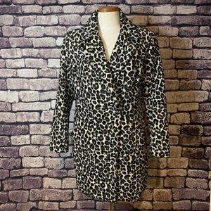 Lucy Paris Animal Print Coat Size Large